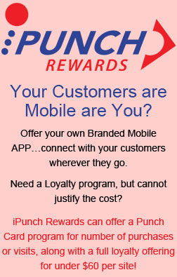 iPunch Rewards can offer a Punch Card program